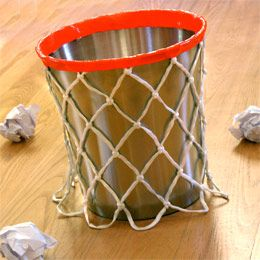 Kids Basketball Room Decor...DIY Basketball Wastebasket