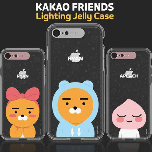 best loved a0ed0 1af6e Genuine Kakao Friends Lighting Jelly Case iPhone X Case iPhone 10 ...