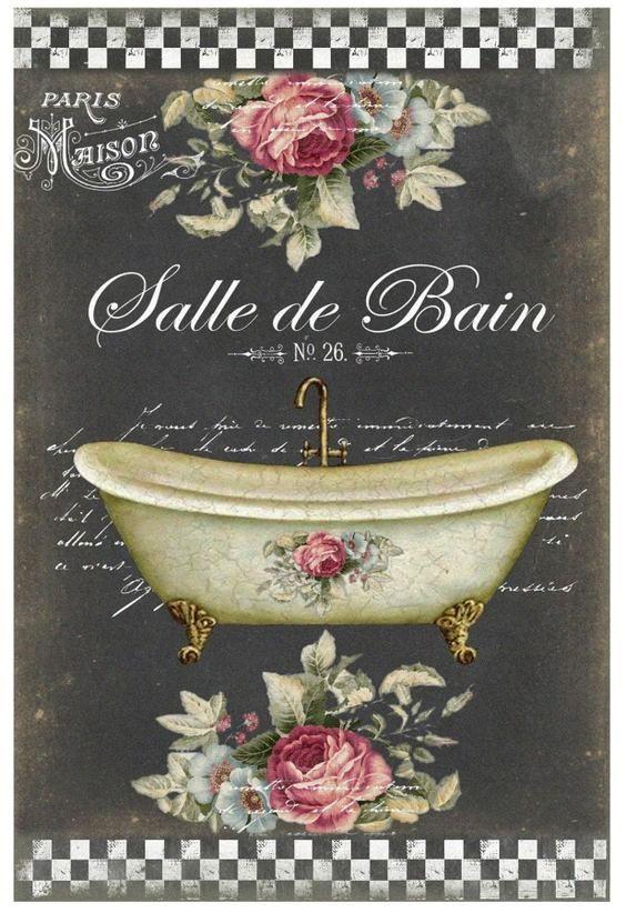 Imprimolandia: Imágenes vintage de baño para imprimir