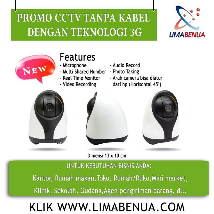 CCTV adalah alat efektif untuk mengontrol usaha anda dimanapun kapanpun tanpa harus repot2 pantau aktivitas usaha dan kinerja karyawan,cukup view hp anda sudah tau gimana ..... www.limabenua.com