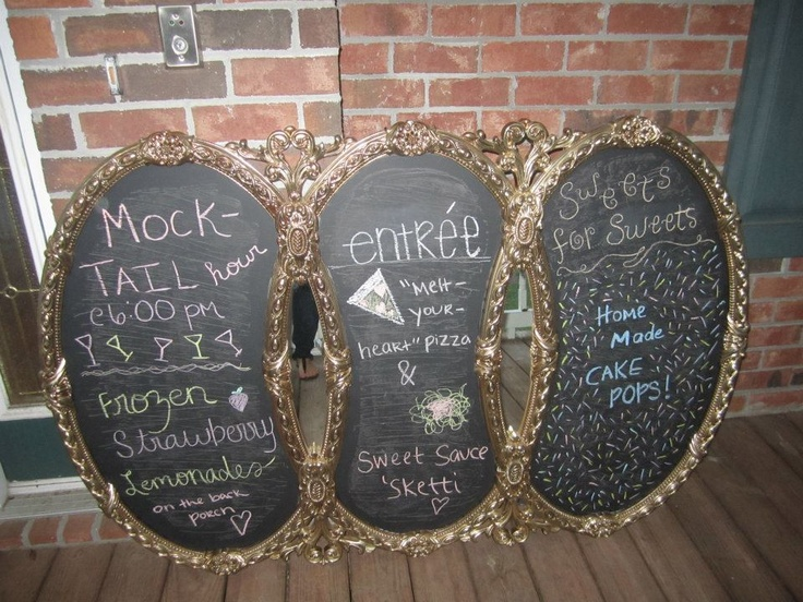 My New Wife Life: DIY Fancy Chalkboard: Mirror I Call, Fancy Chalkboards, Diy'S, Mirrori Call, Diy Fancy, Comment, New Wife, Old Mirror, Wife Life