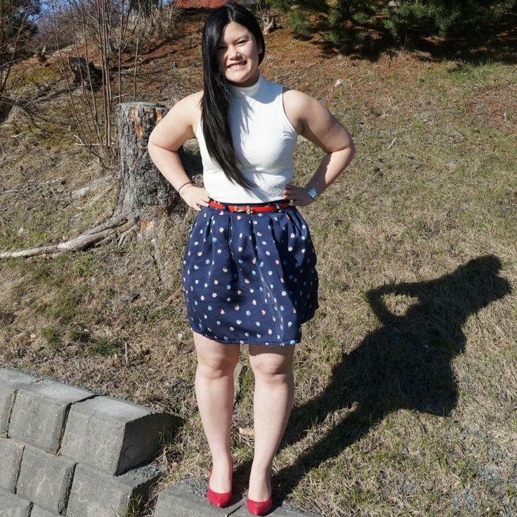 Snow white skirt (chardon skirt from Deer and Doe)
