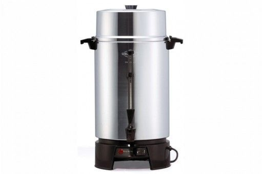 Coffee Percolator - 100 Cup. Easy to use.  No filters required.  Style may vary.