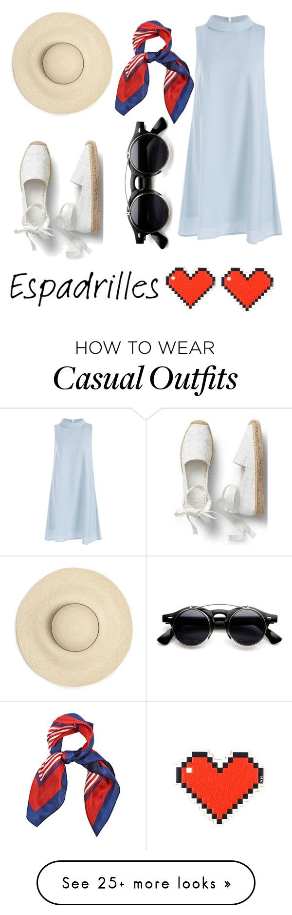 """Espadrilles Casual"" by trend-makers on Polyvore featuring Anya Hindmarch"