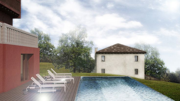 tenuta santa maria in montebelluna #visualization #rendering #pool #architecture