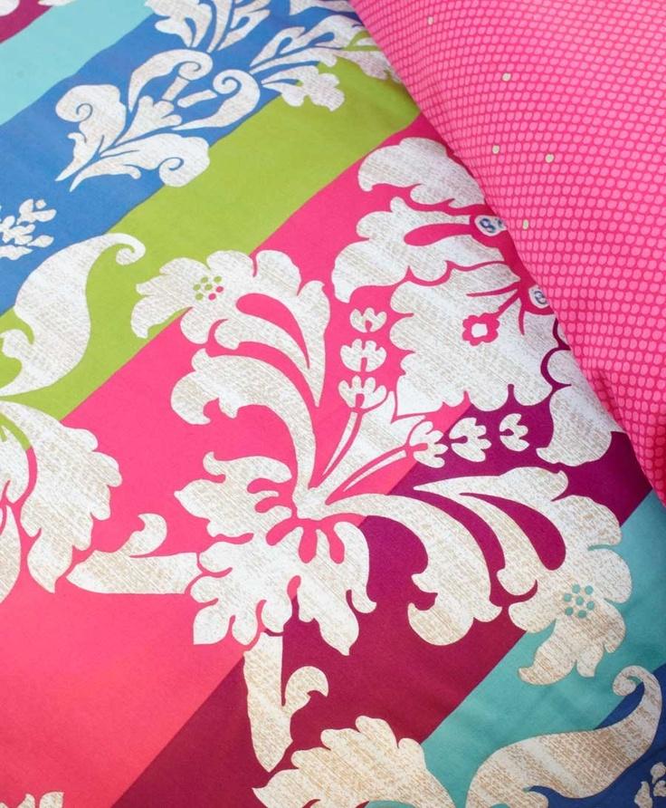 Bright pink doona cover design! #pink