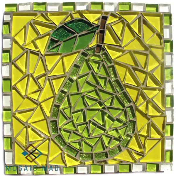 Mosaic Mad D.I.Y. Project- PEAR 15X15cm R120.00 http://www.mosaicmad.com/shop/en/mosaic-kits-/5139-mosaic-project-pear.html