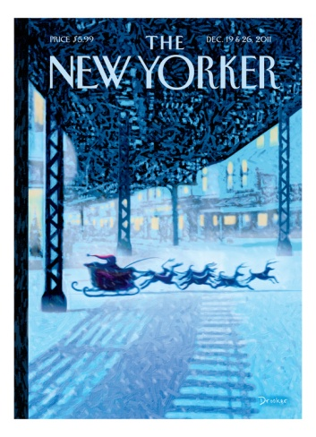 The New Yorker Cover - December 19, 2011 Giclee Print by Eric Drooker at Art.com