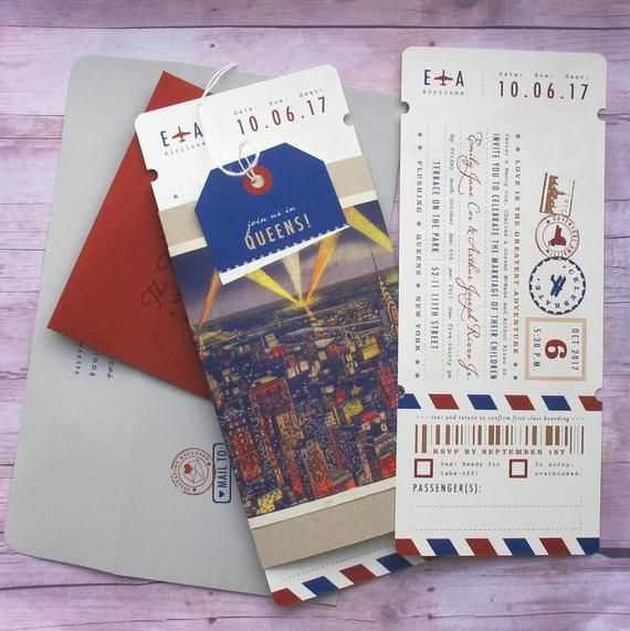 Boarding Pass Ticket Wrap Enclosure Invitation With Luggage Etsy Holiday Travel Gifts Travel Invitation Invitations