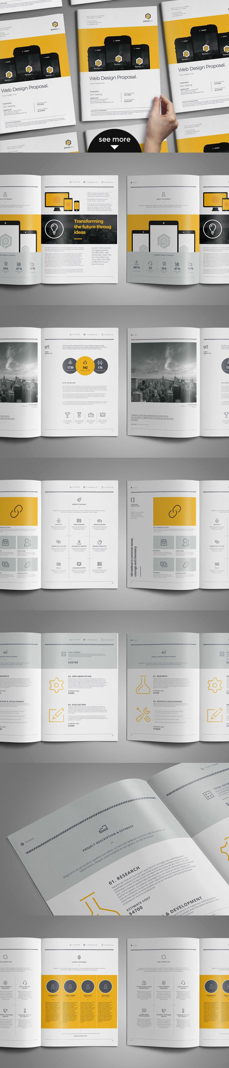 free proposal template%0A Free this week  Web Design Proposal by broluthfi on Creative Market