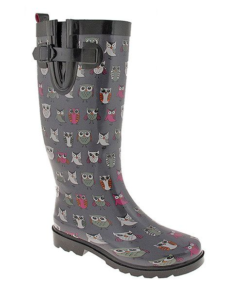 Never forgo fashionable footwear on stormy days with these refined rain boots. The chic buckle and sleek design combine to complete a perfectly polished look.