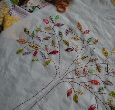 embroidery - trees