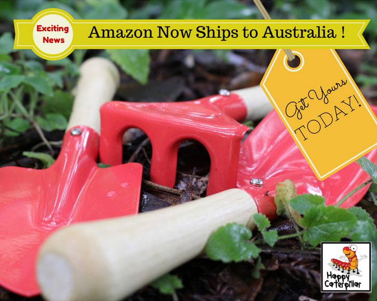 """Happy Caterpillar are pleased and excited to announce that Amazon is now shipping our """"Little Green Fingers Gardening Tool Sets for Kids"""" to Australia!   The weather here is getting hotter. Flowers are blooming and summer is nearly here. Our garden tool set for kids is an excellent gift for Christmas, birthdays or just because. Gardening teaches ..."""