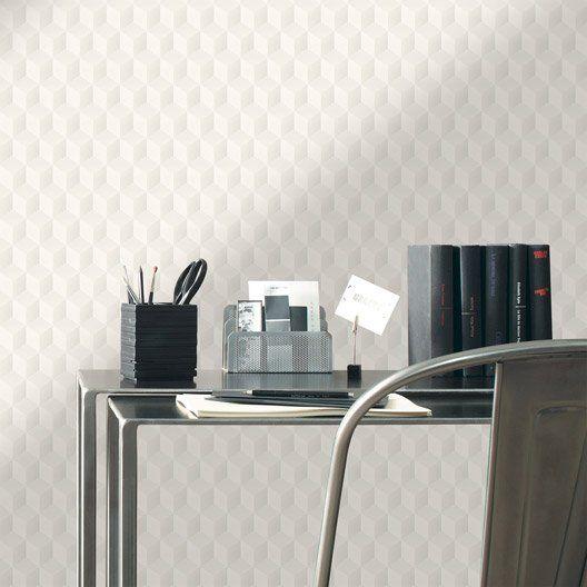 Papier peint intissé Square 3d blanc