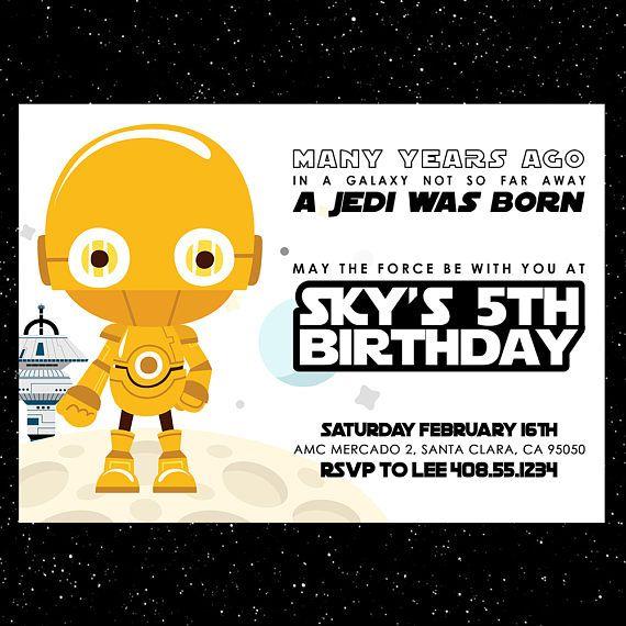 17 best kids themed birthday invitations images on pinterest star wars birthday invitation star wars printable invites star wars party invite star stopboris Choice Image