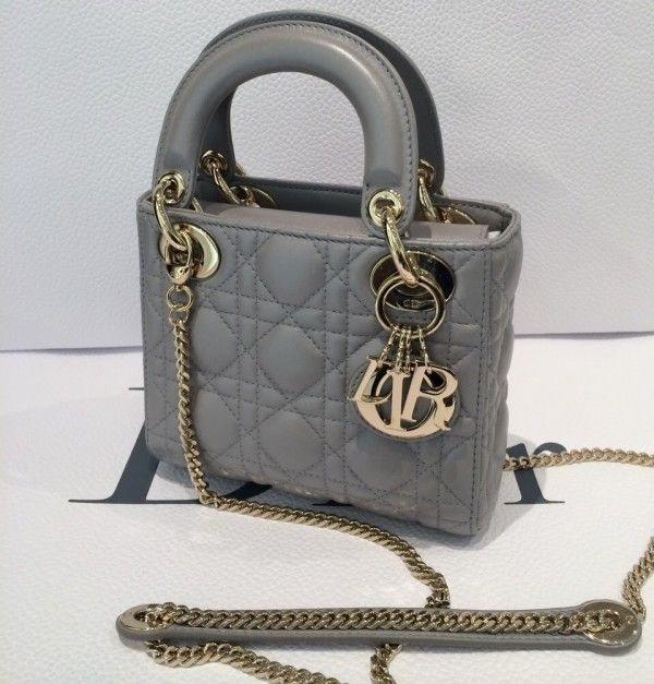 Dior Grey Lady Dior with Chain Mini Bag  5203d7213acc0