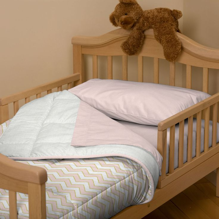 Pale Pink And Gold Chevron Toddler Bedding Carousel Designs