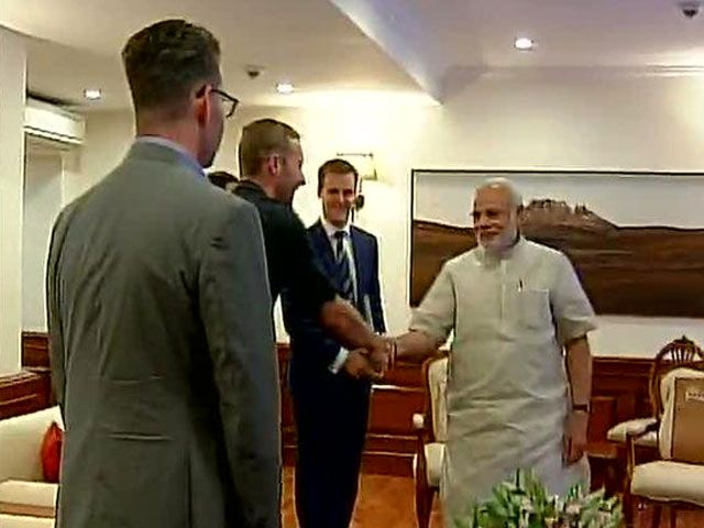 In Delhi, Chris Martin Met PM Modi