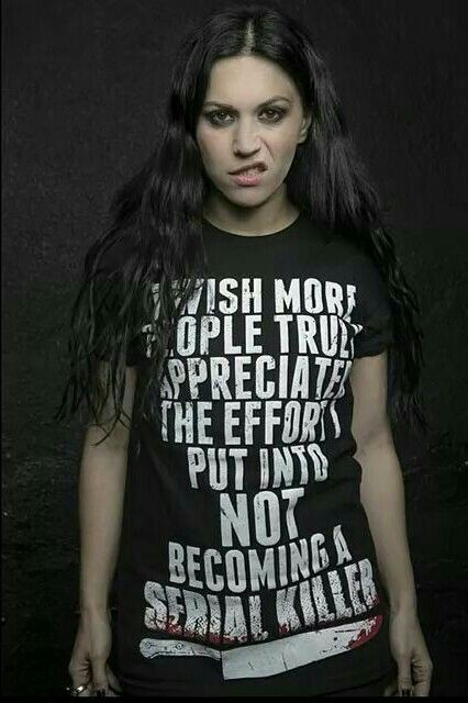 Cristina Scabbia - with pretty awesome Tee