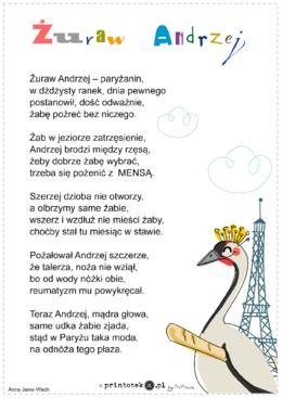 Żuraw Andrzej - wierszyk - Printoteka.pl