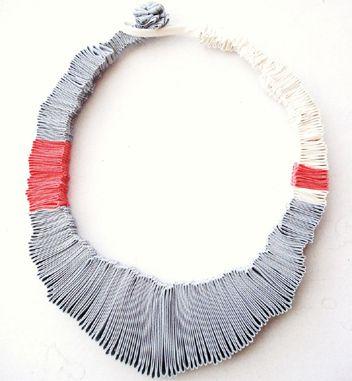 Sol Marsico - textile jewelry, fabric jewelry