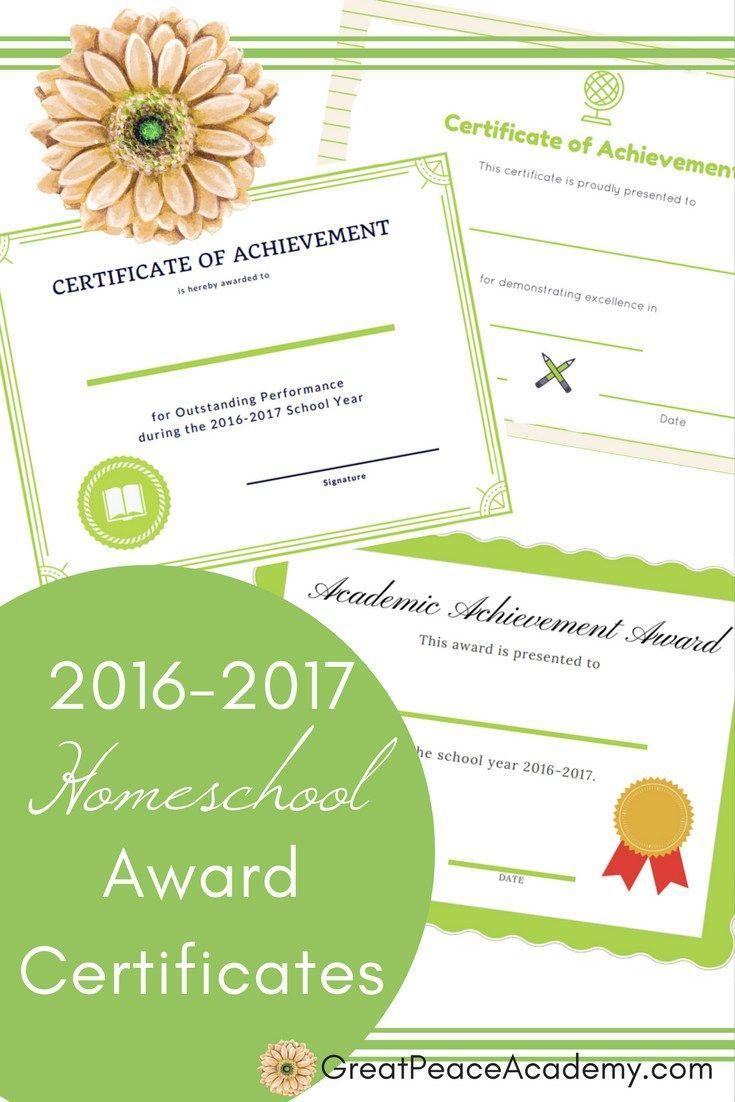 best ideas about certificates student 2016 2017 homeschool award certificates