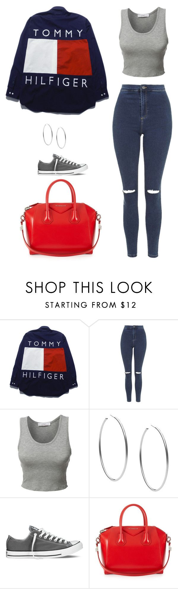"""""""Untitled #439"""" by catsrcoolokay on Polyvore featuring Topshop, LE3NO, Michael Kors, Converse and Givenchy"""