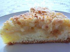Apfelstreuselkuchen -Torta arenosa de manzana