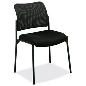 basyx by HON HVL506 Mesh Back Armless Guest Chair, Black