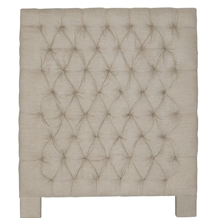 Single bed contemporary quilted and buttoned linen headboard 100cm width  x 124cm height