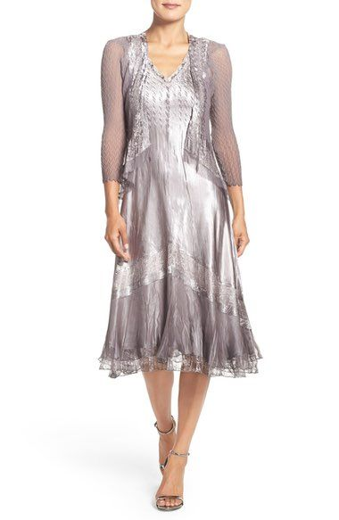 Komarov Ombré Charmeuse A-Line Dress & Chiffon Jacket (Regular & Petite) available at #Nordstrom