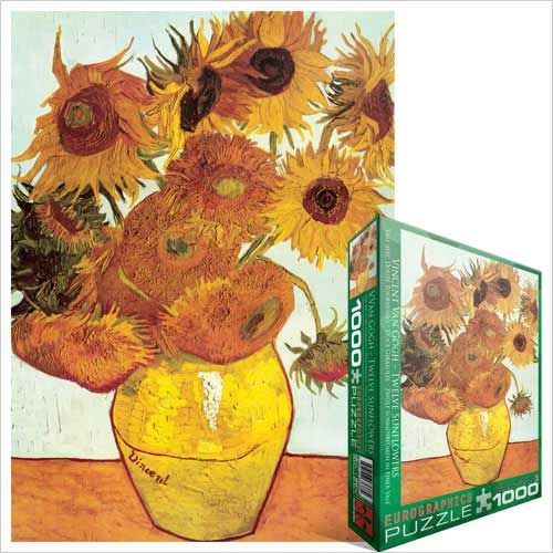 Vase with Twelve Sunflowers, Jigsaw Puzzle by Vincent Van Gogh at Eurographics - beautiful!