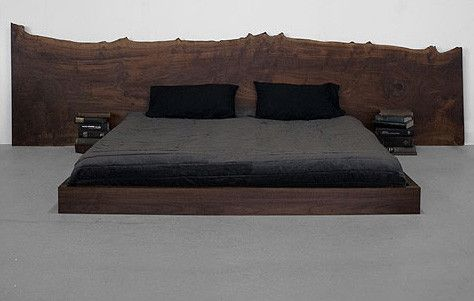 wood slab headboard
