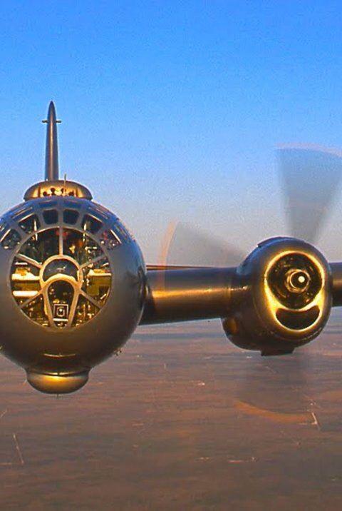 Airborne B-29 Superfortress bomber.