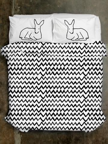 100% Cotton Zig Zag Quilt Cover and The Good Life Pillowcases from Life Modern. Designed in Melbourne. Available in Queen/King size and White or Grey.