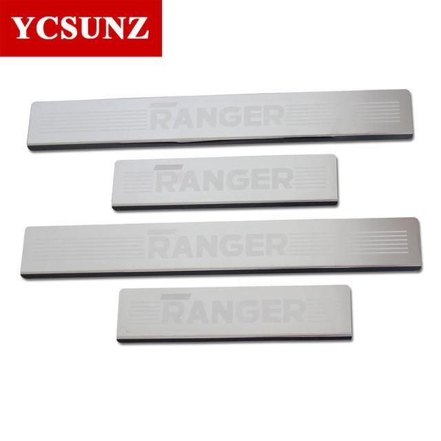 Threshold For Ford Ranger T6 100% Steel Door Decorative Thresholds For Ford Rangers 2012 2013 2014 Car Styling Sill Protectors