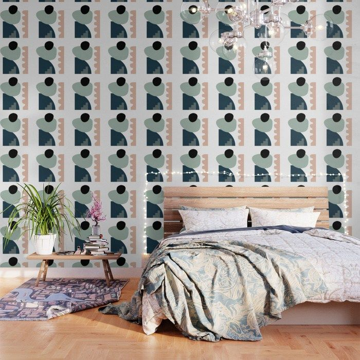 Buy Shape Study 18 Stackable Collection Wallpaper By Mpgmb Worldwide Shipping Available At Society6 Peel And Stick Wallpaper Wallpaper Bedroom Inspirations