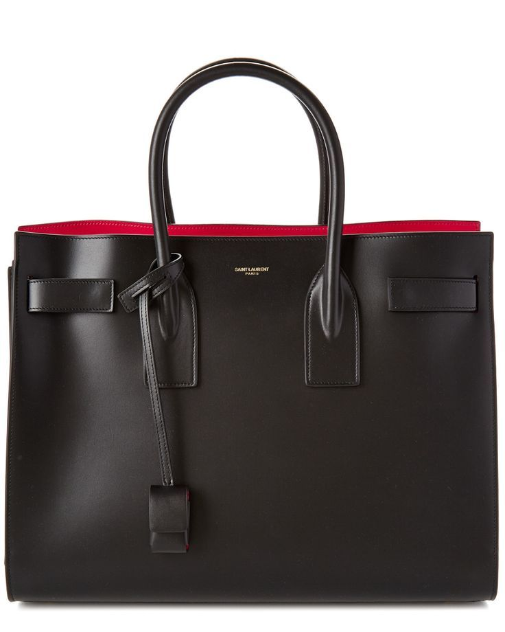 Saint Laurent Large Sac De Jour Leather Tote - what dreams are made of.