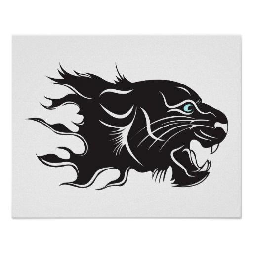 Black Panther Blue Eyes Poster   Zazzle.com