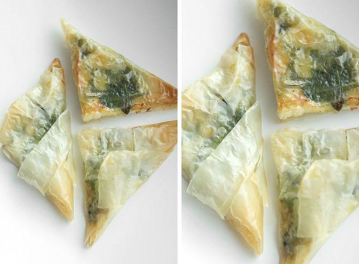 made by mary - Tapas för 2: Filodegsknyten med Chèvre, Babyspenat & Honung - Tapas for 2: Filo Dough Dumplings with Chèvre, Baby Spinach & Honey