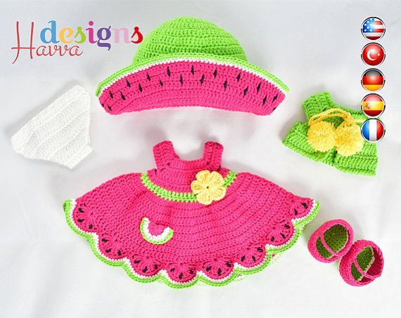kleding jurk watermeloen schoenen bikini broekje