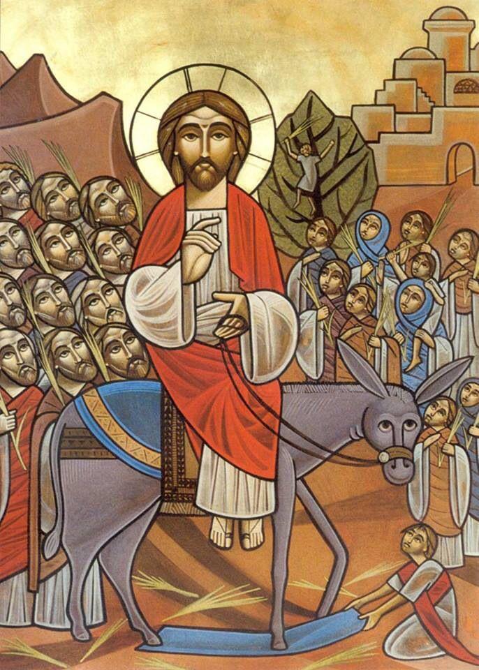 Palm Sunday #Coptic Icon #Orthodox