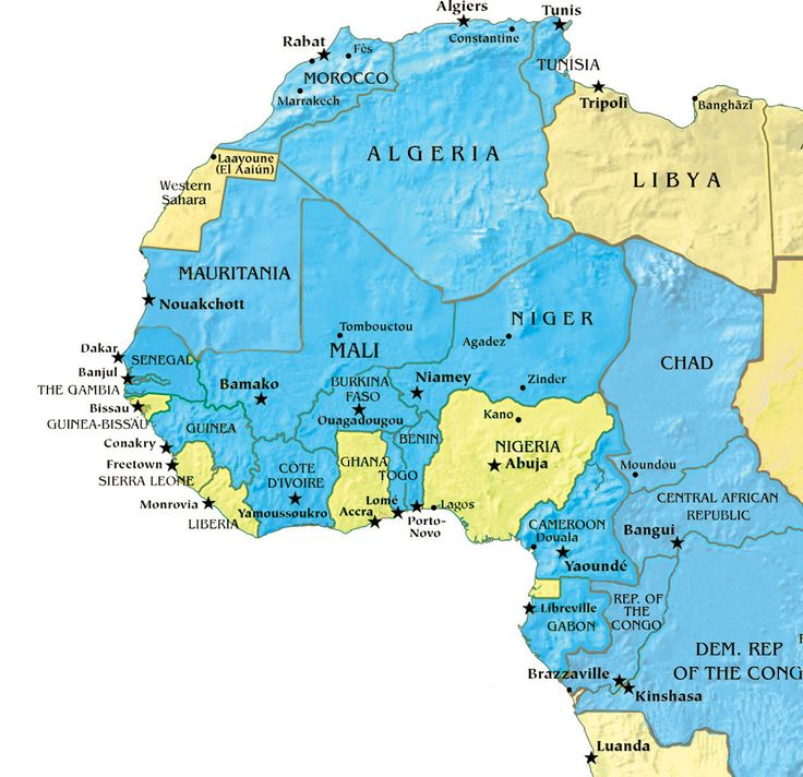 French West Africa On Pinterest Ghana Map News In: Map Of Africa In French At Infoasik.co