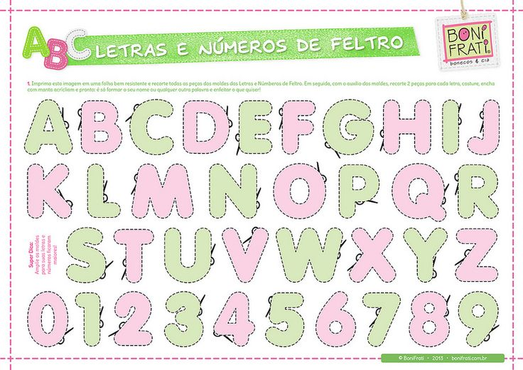 Letras e Números de Feltro (PAP com molde) | Flickr - Photo Sharing!