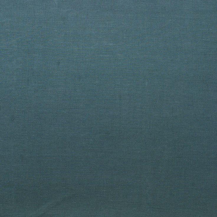 SS16 Deep Teal Linen Flat Sheet