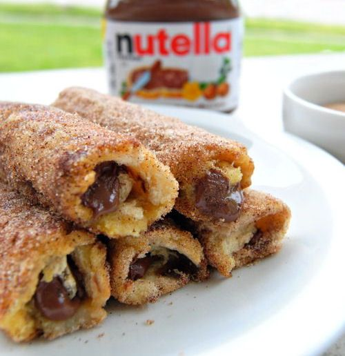 Nutella French Toast Rolls with Cinnamon Sugar - My Honeys Place