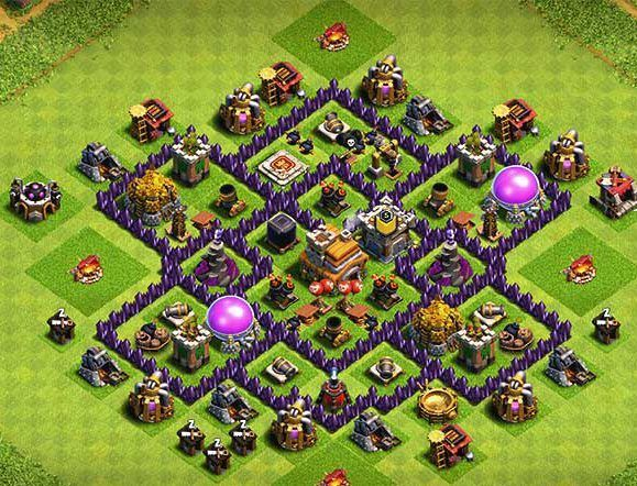 25 Th7 Trophy Base Link 2020 New Latest Anti Clash Of Clans Clash Of Clans Hack Trophy Base
