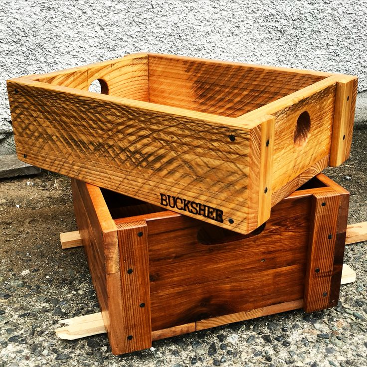 BUCKSHEE freight crate  Reclaimed wood, woodshop, woodworking