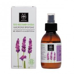 ECO BIO BABY KIDS Natural Caring Oil with calendula & lavender. #Hydration #Protection #Soothing Action #Treatment of Cradle Cap Caring oil suitable for gentle massage and ideal for the treatment of cradle cap. Easily absorbable and effective in moisturizing sensitive baby skin. It protects from dryness and alleviates irritations. Read more at www.apivita.com