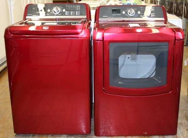 red maytag bravos washer and steam dryer set